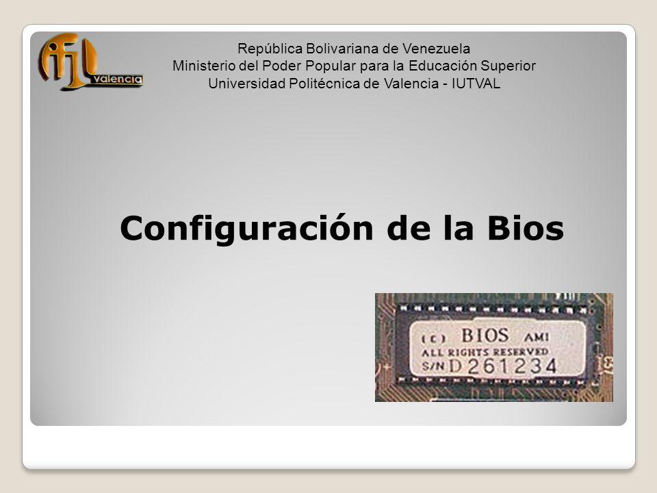 Configuración de la Bios