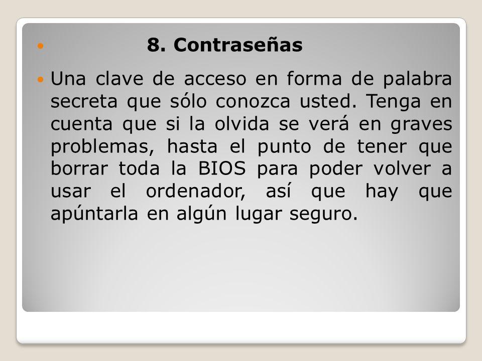 8. Contraseñas