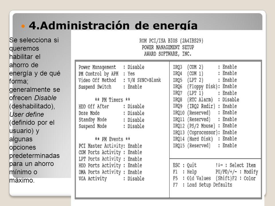 4.Administración de energía