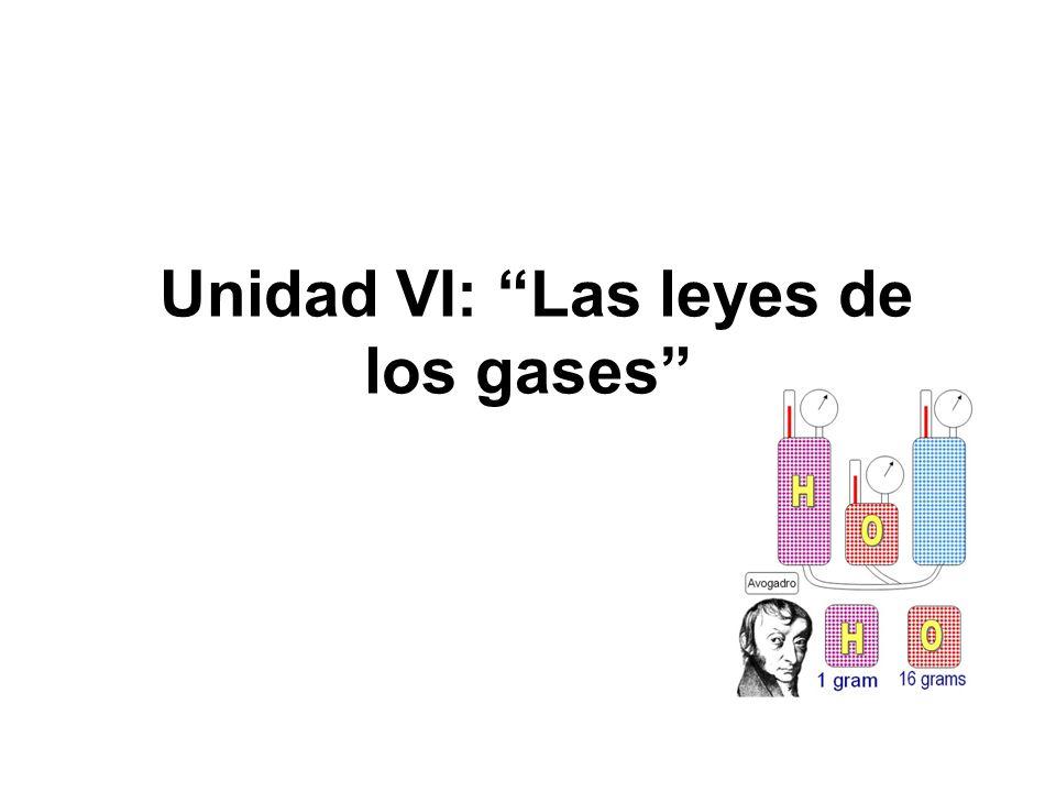 Unidad VI: Las leyes de los gases