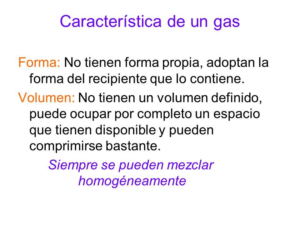 Característica de un gas
