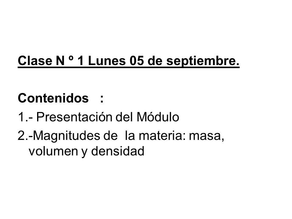 Clase N º 1 Lunes 05 de septiembre.