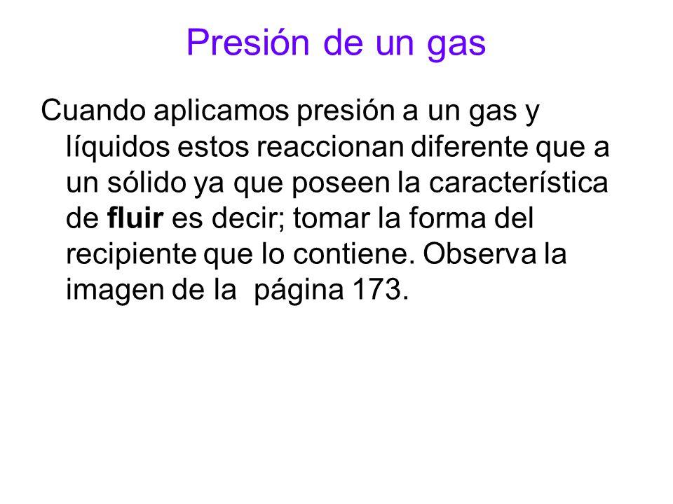 Presión de un gas