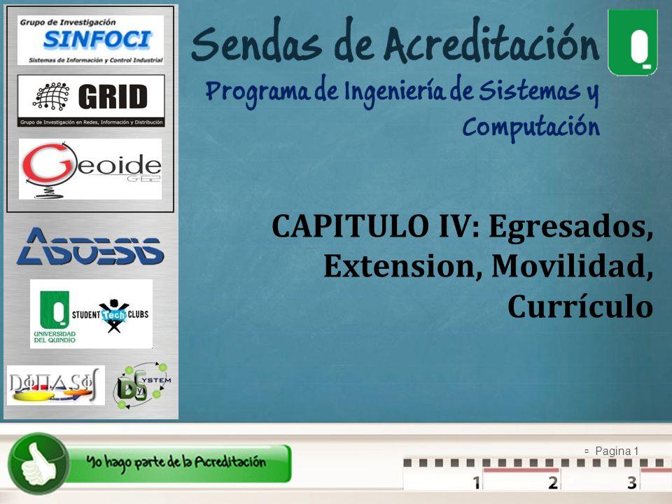 CAPITULO IV: Egresados, Extension, Movilidad, Currículo