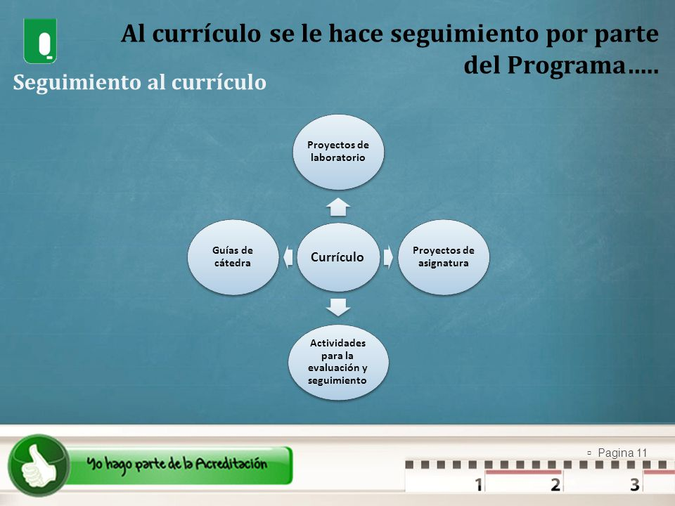 Al currículo se le hace seguimiento por parte del Programa…..
