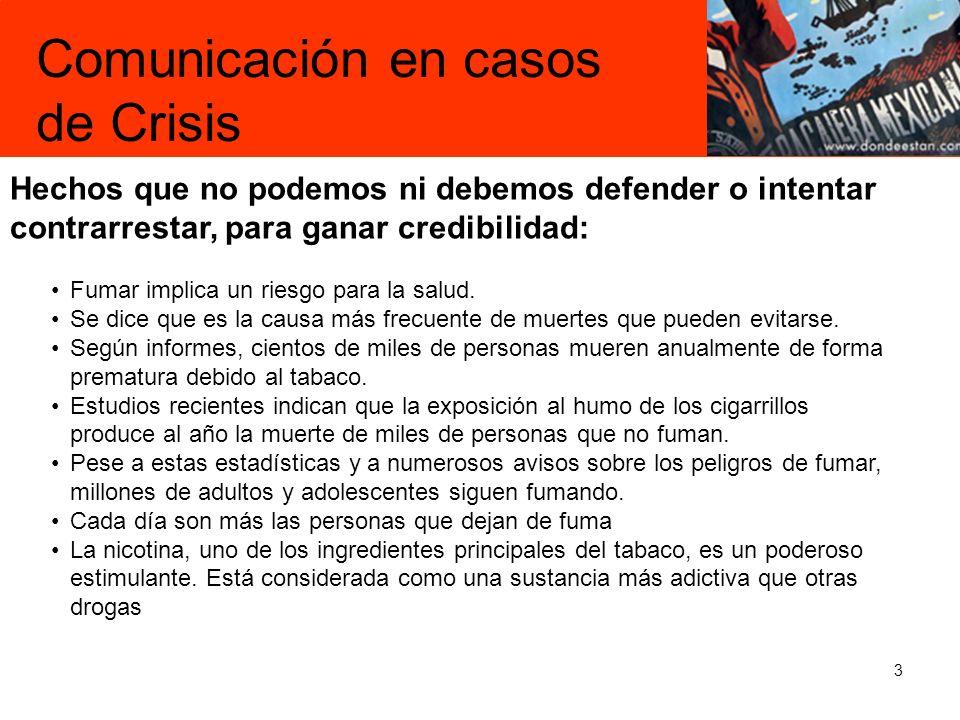 Comunicación en casos de Crisis