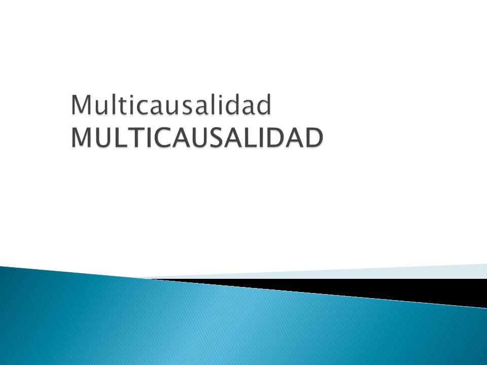 Multicausalidad MULTICAUSALIDAD