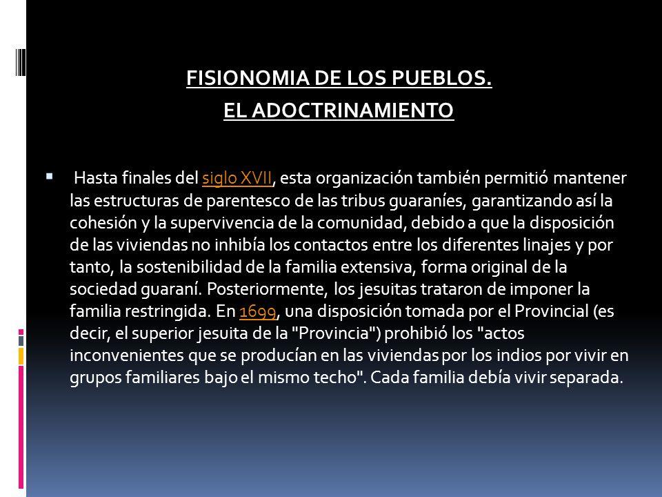 FISIONOMIA DE LOS PUEBLOS.