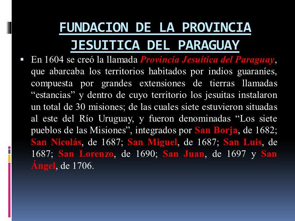 FUNDACION DE LA PROVINCIA JESUITICA DEL PARAGUAY