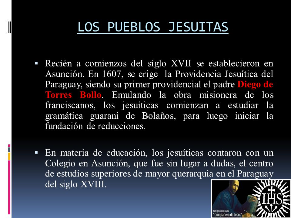 LOS PUEBLOS JESUITAS