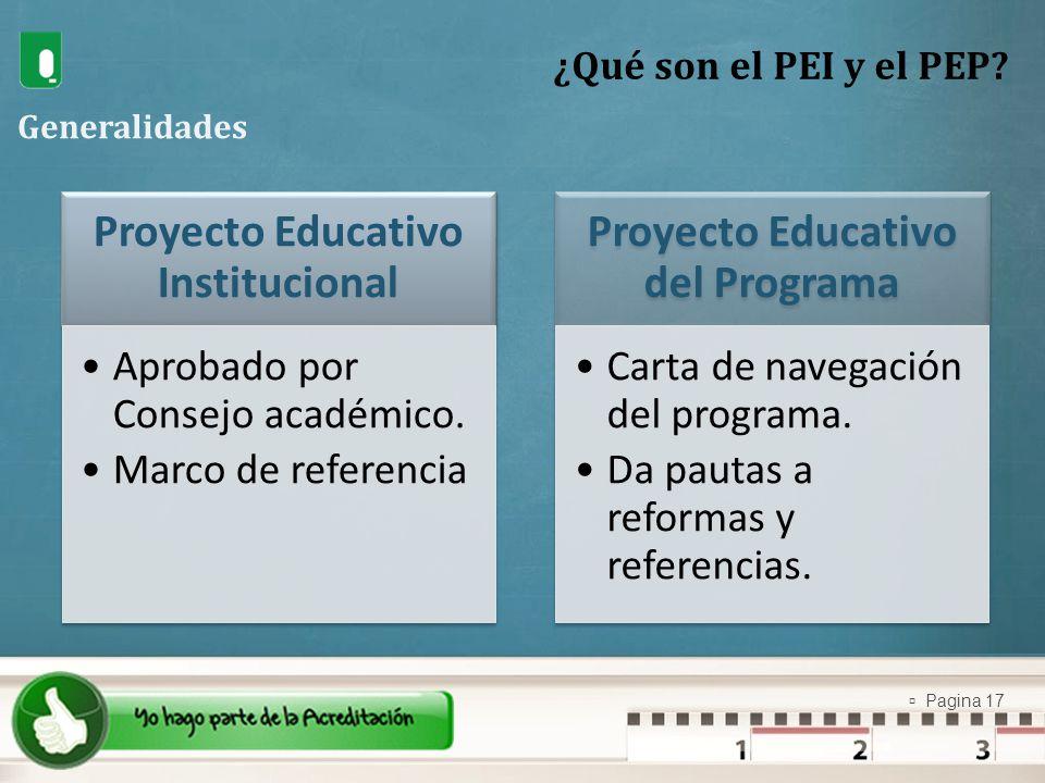 Proyecto Educativo Institucional Proyecto Educativo del Programa