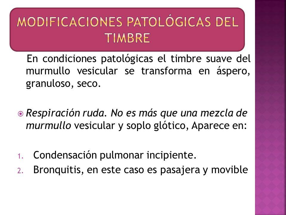 Modificaciones patológicas del timbre
