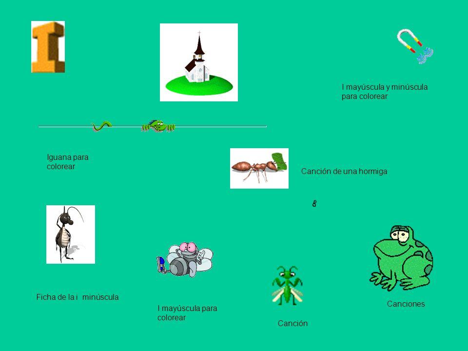 I mayúscula y minúscula para colorear Iguana para colorear