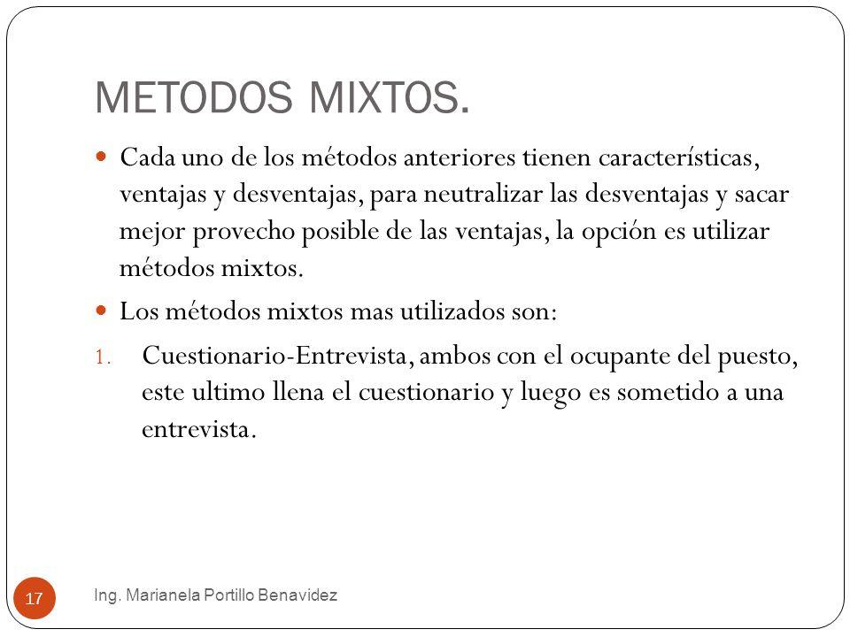 METODOS MIXTOS.