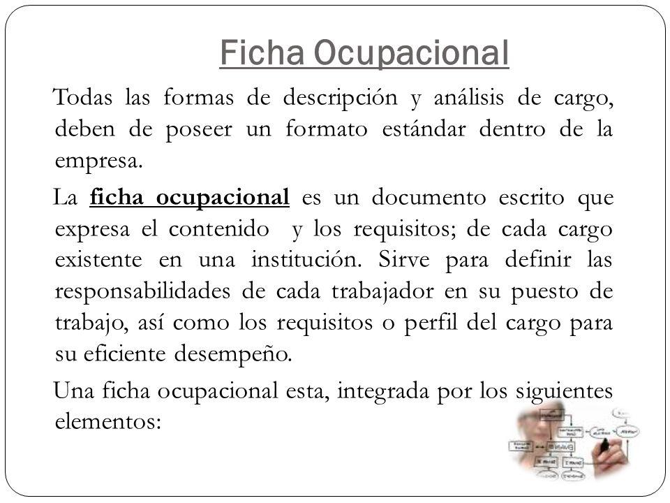 Ficha Ocupacional