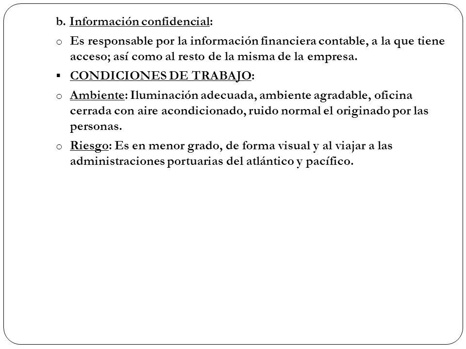 b. Información confidencial: