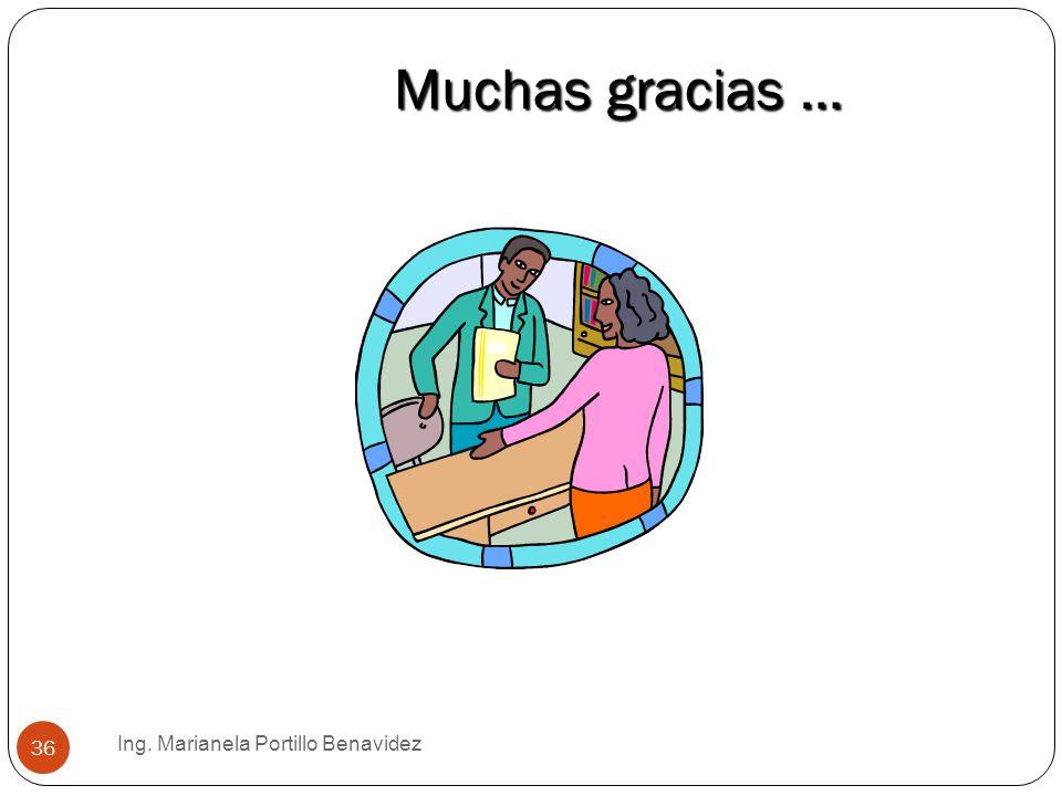 Muchas gracias … Ing. Marianela Portillo Benavidez