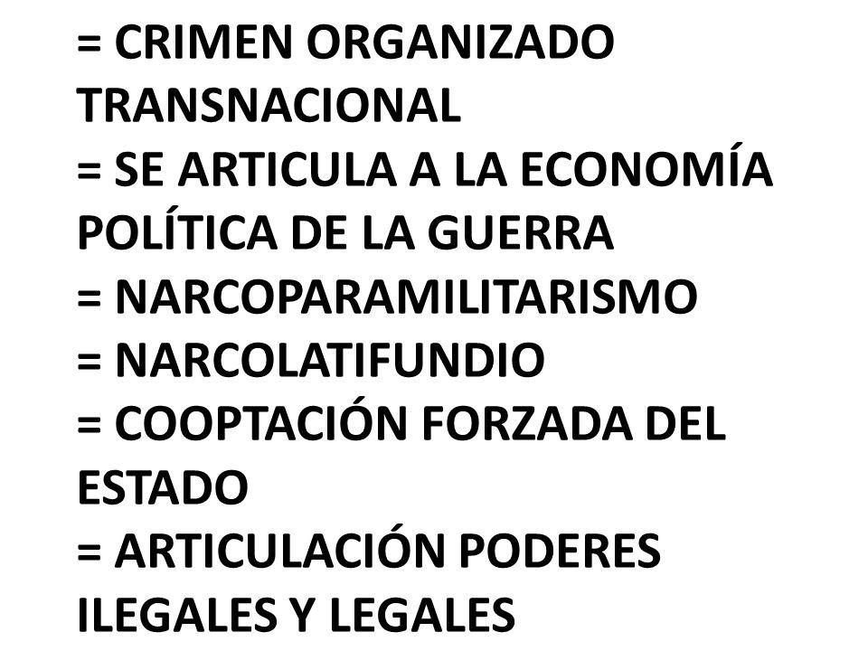 = SE ARTICULA A LA ECONOMÍA POLÍTICA DE LA GUERRA