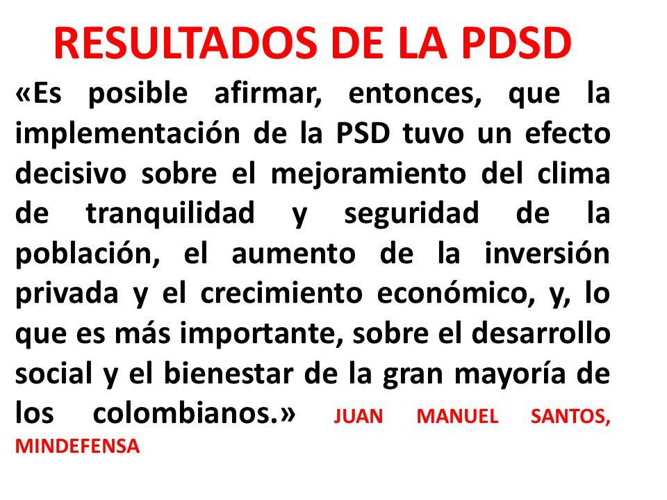 RESULTADOS DE LA PDSD