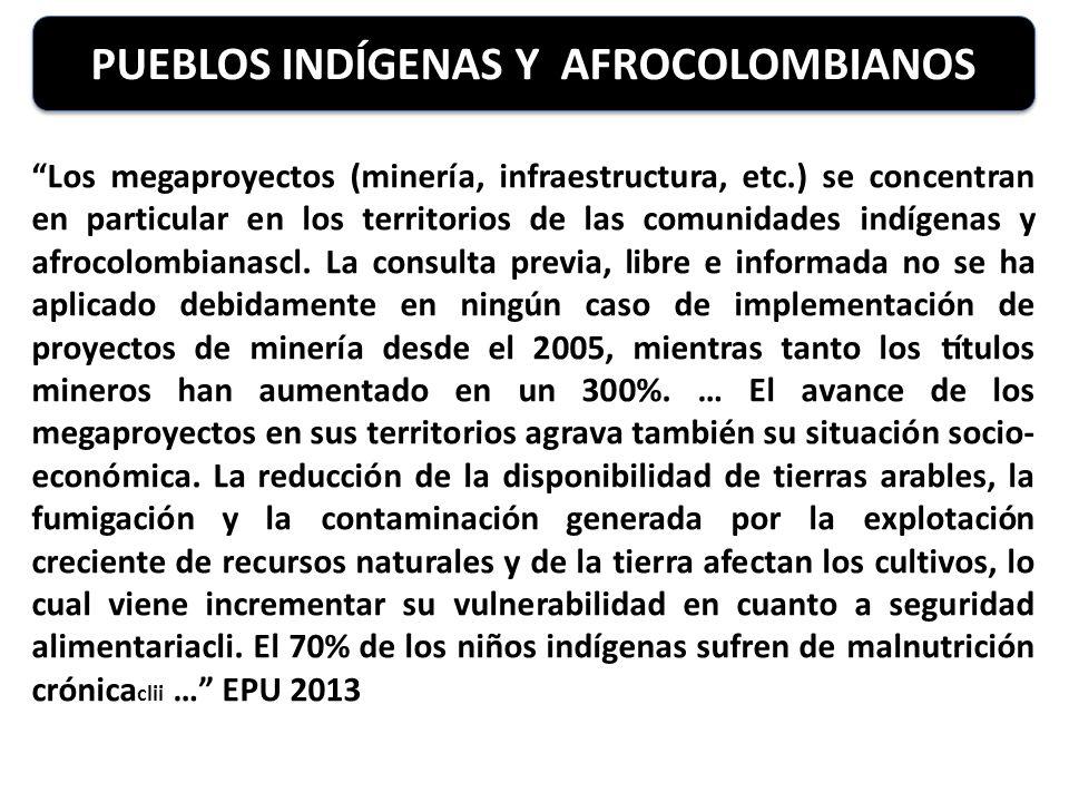 PUEBLOS INDÍGENAS Y AFROCOLOMBIANOS