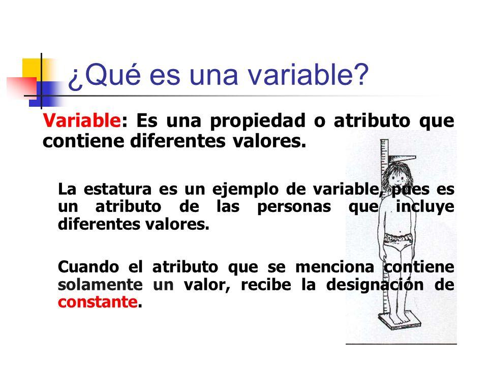 ¿Qué es una variable Variable: Es una propiedad o atributo que contiene diferentes valores.