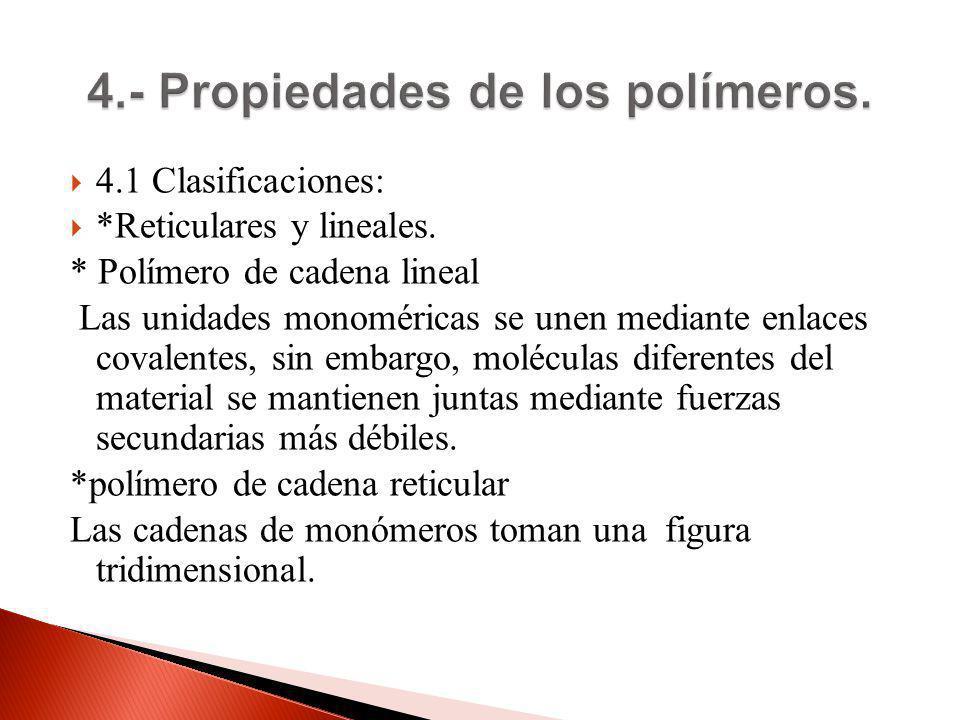 4.- Propiedades de los polímeros.