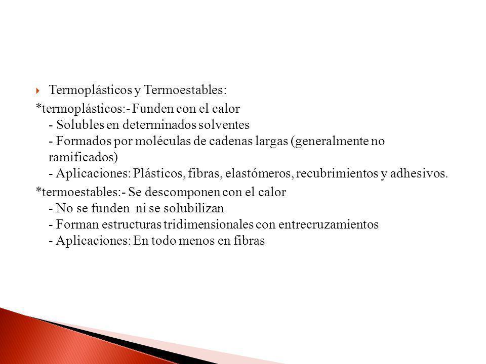 Termoplásticos y Termoestables: