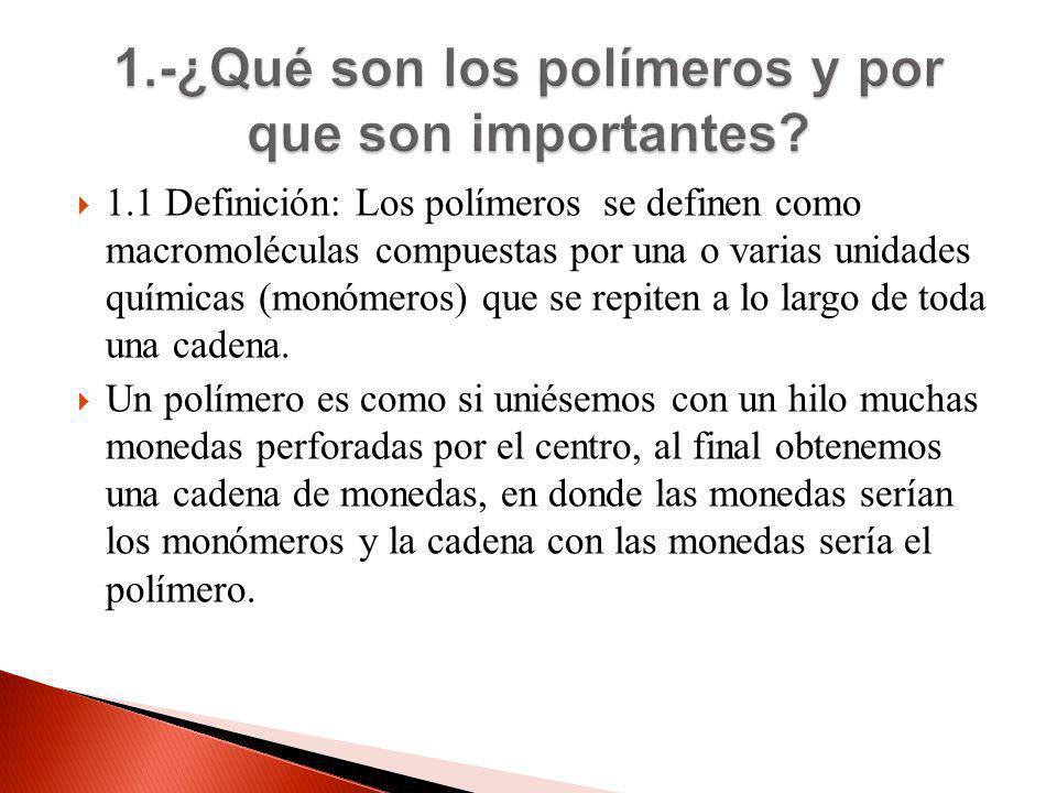 1.-¿Qué son los polímeros y por que son importantes