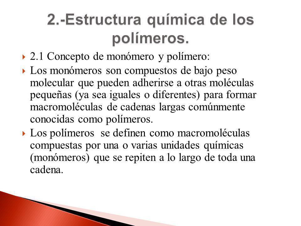 2.-Estructura química de los polímeros.