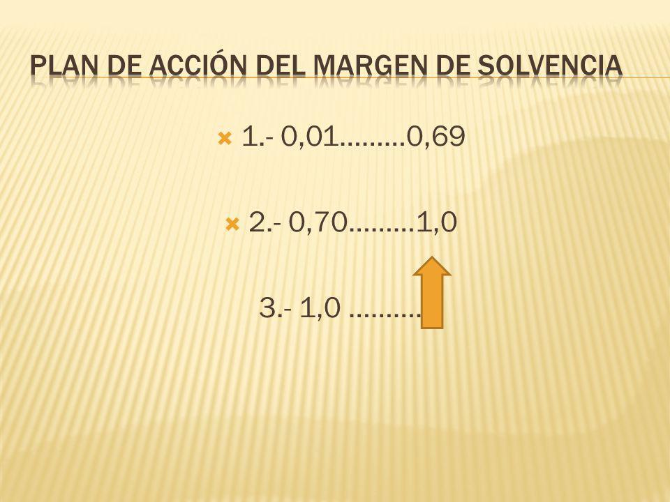 Plan de acción del margen de solvencia