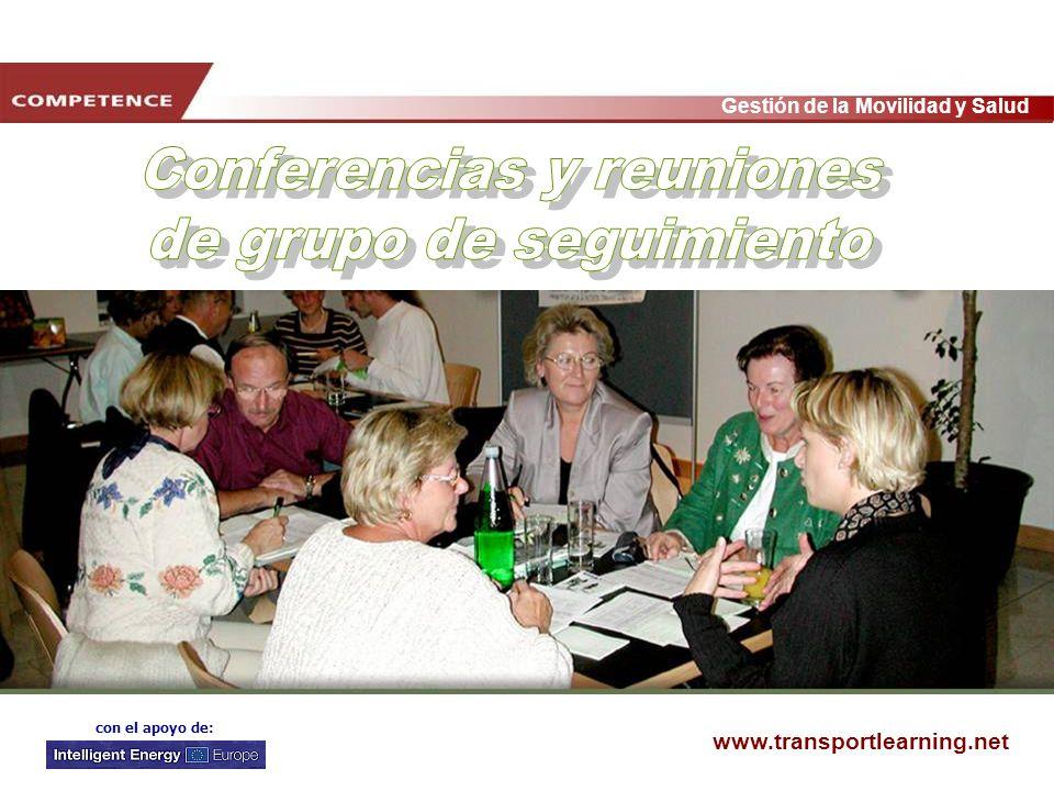 Conferencias y reuniones de grupo de seguimiento