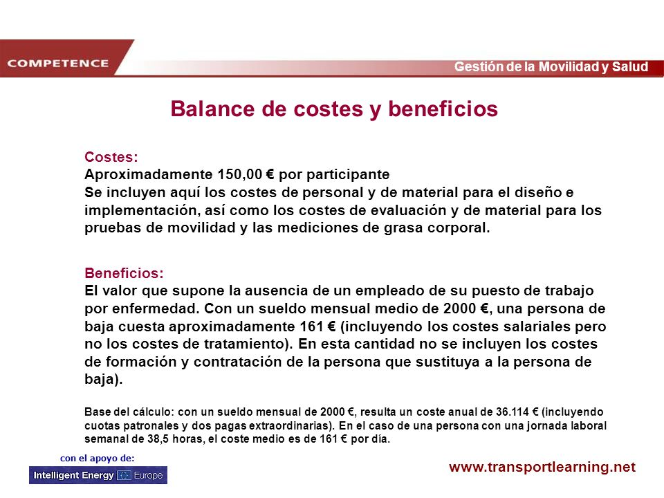 Balance de costes y beneficios