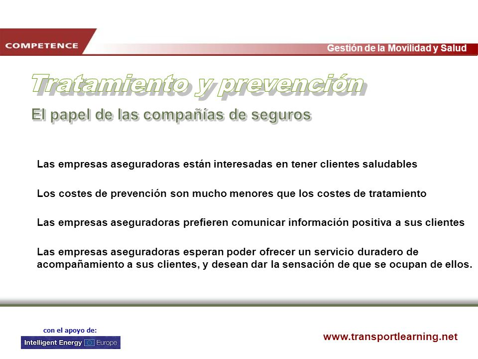 Tratamiento y prevención El papel de las compañías de seguros
