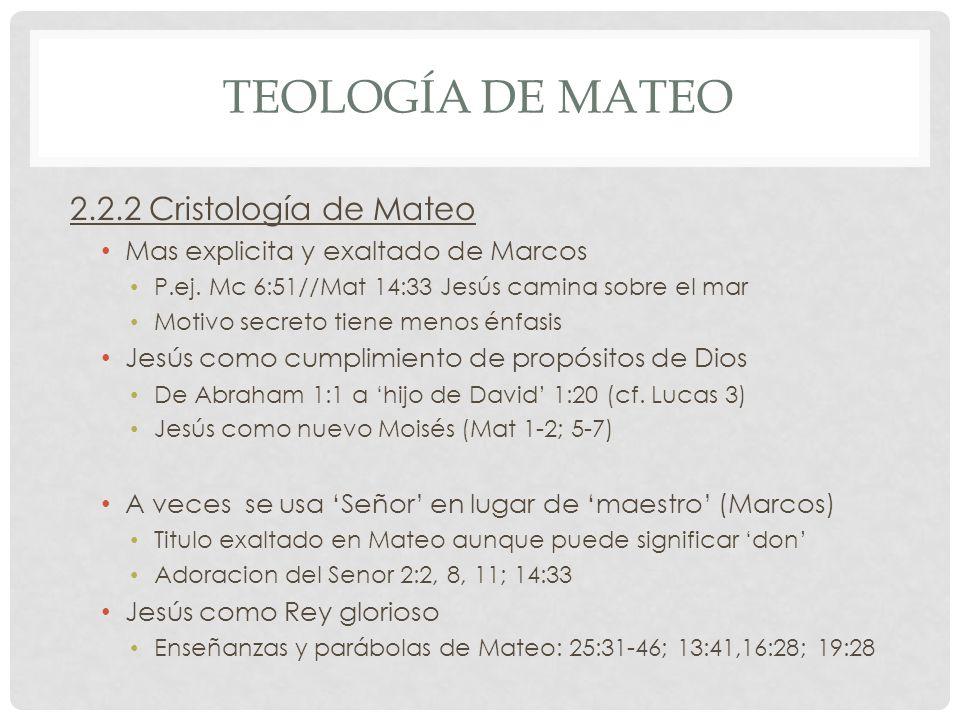 Teología de mateo 2.2.2 Cristología de Mateo