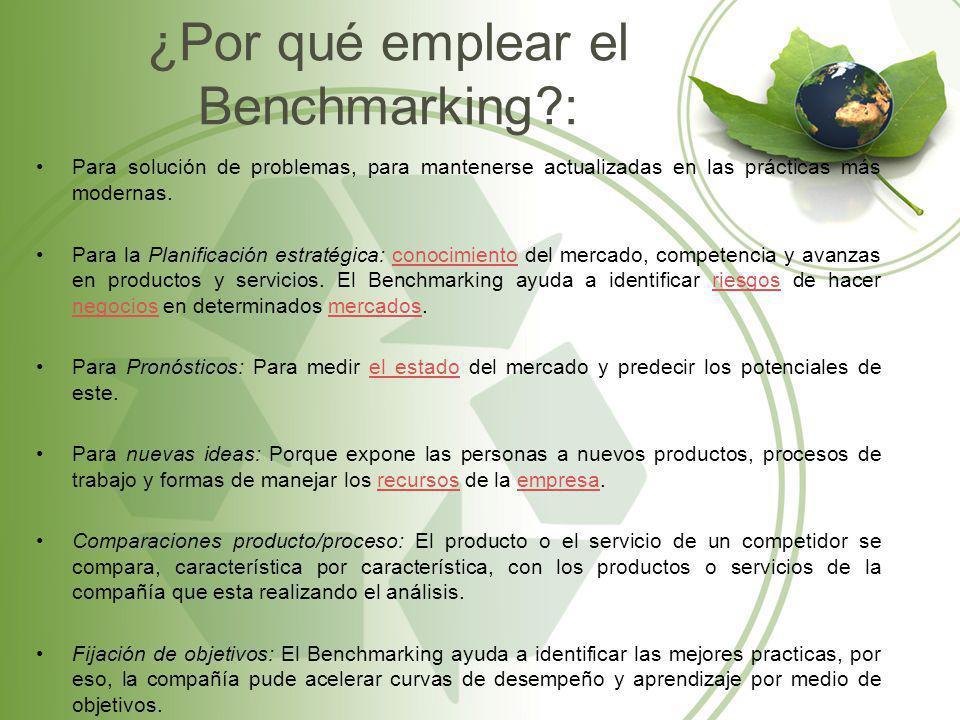 ¿Por qué emplear el Benchmarking :