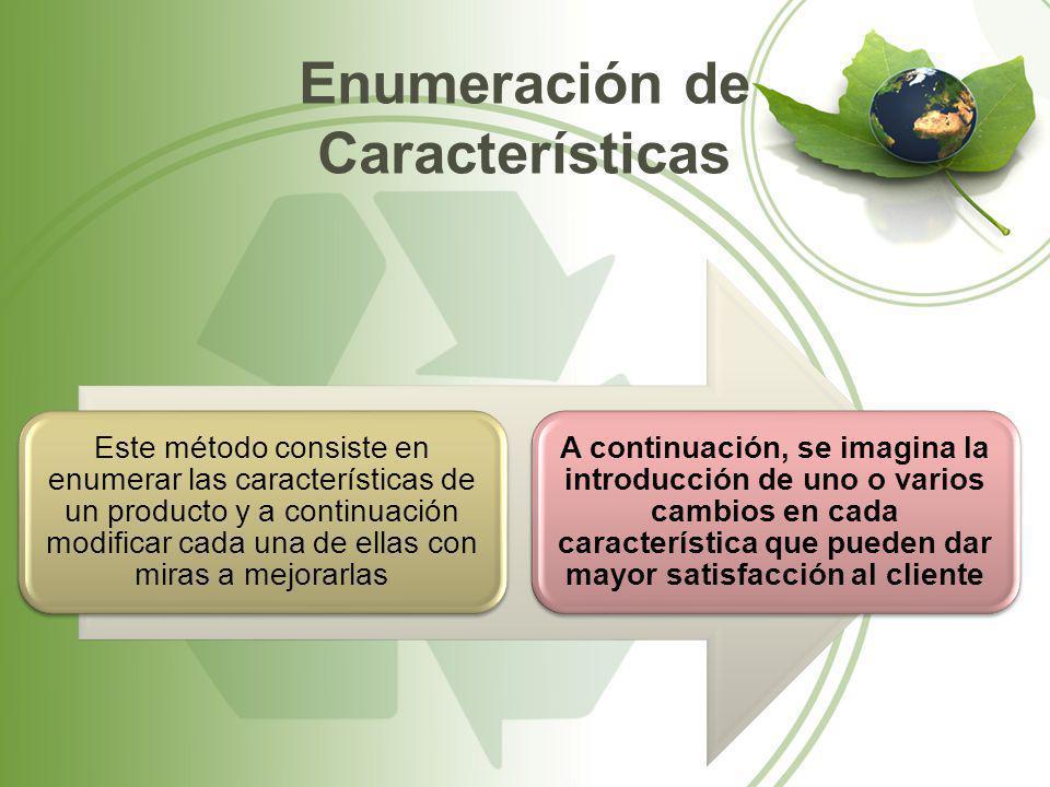 Enumeración de Características