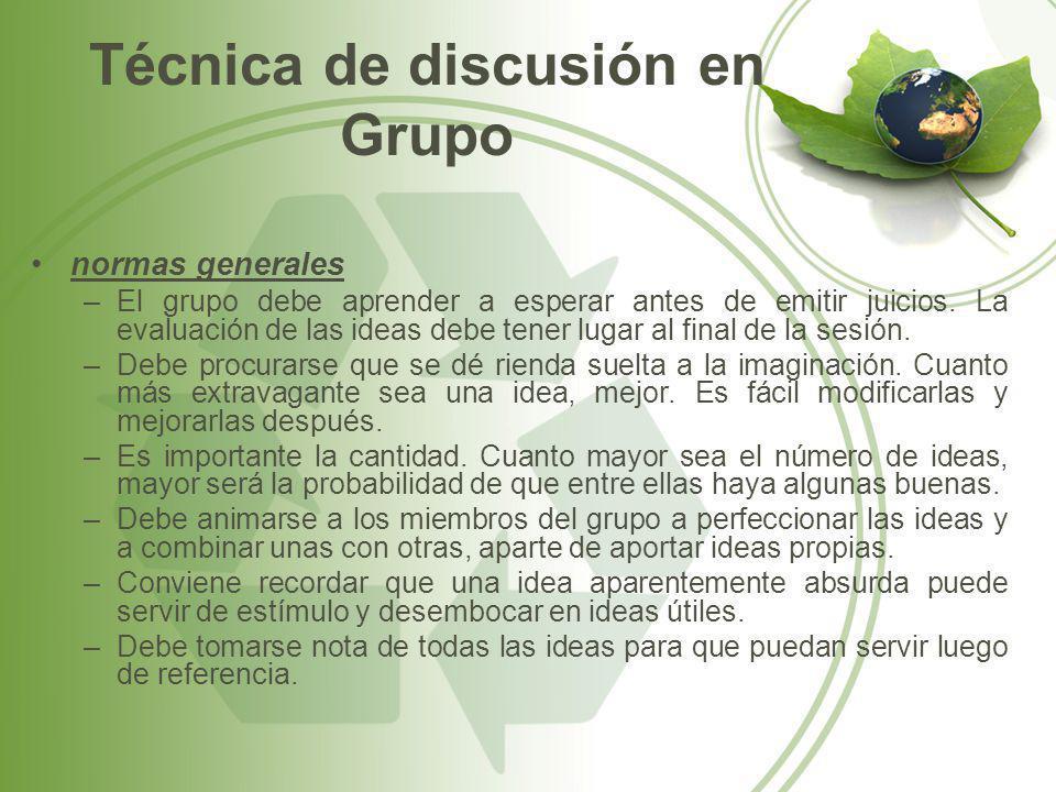 Técnica de discusión en Grupo