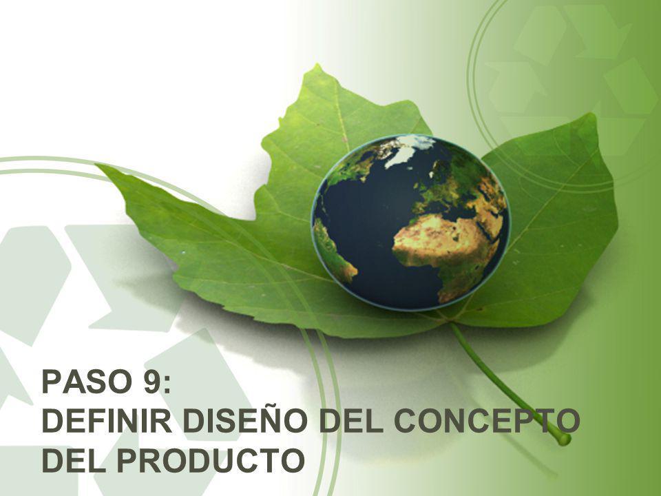 Paso 9: definir diseño del concepto del producto