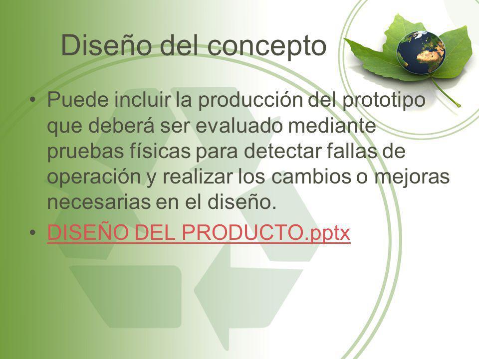 Diseño del concepto