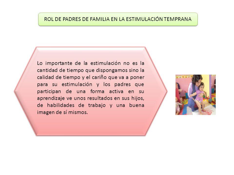 ROL DE PADRES DE FAMILIA EN LA ESTIMULACIÓN TEMPRANA