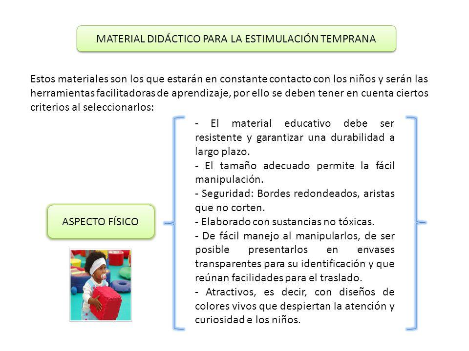 MATERIAL DIDÁCTICO PARA LA ESTIMULACIÓN TEMPRANA