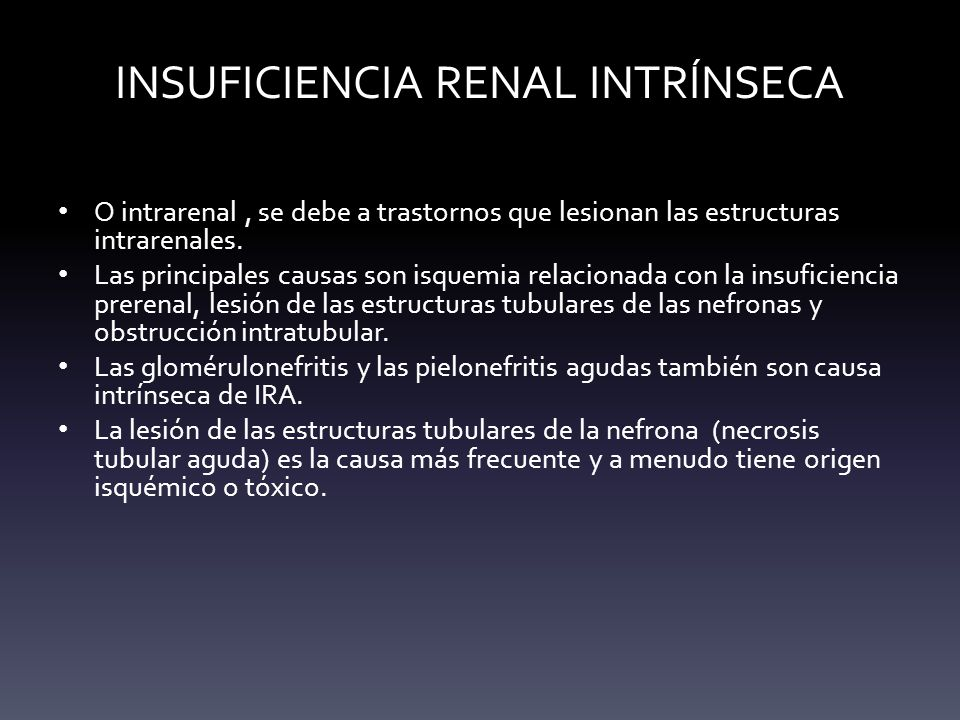 INSUFICIENCIA RENAL INTRÍNSECA