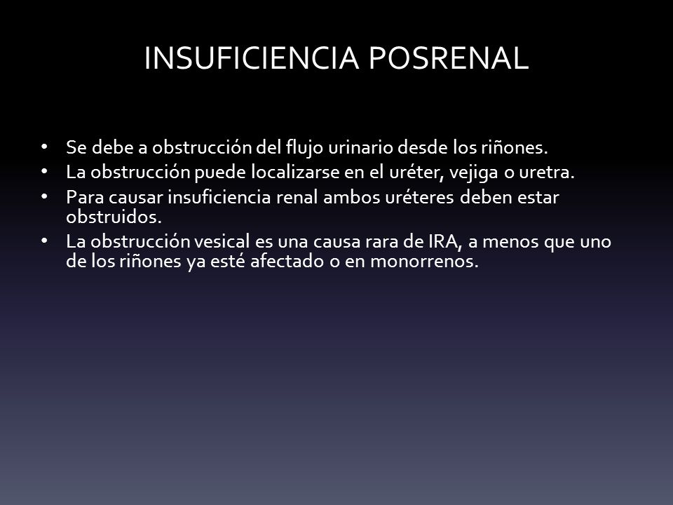 INSUFICIENCIA POSRENAL