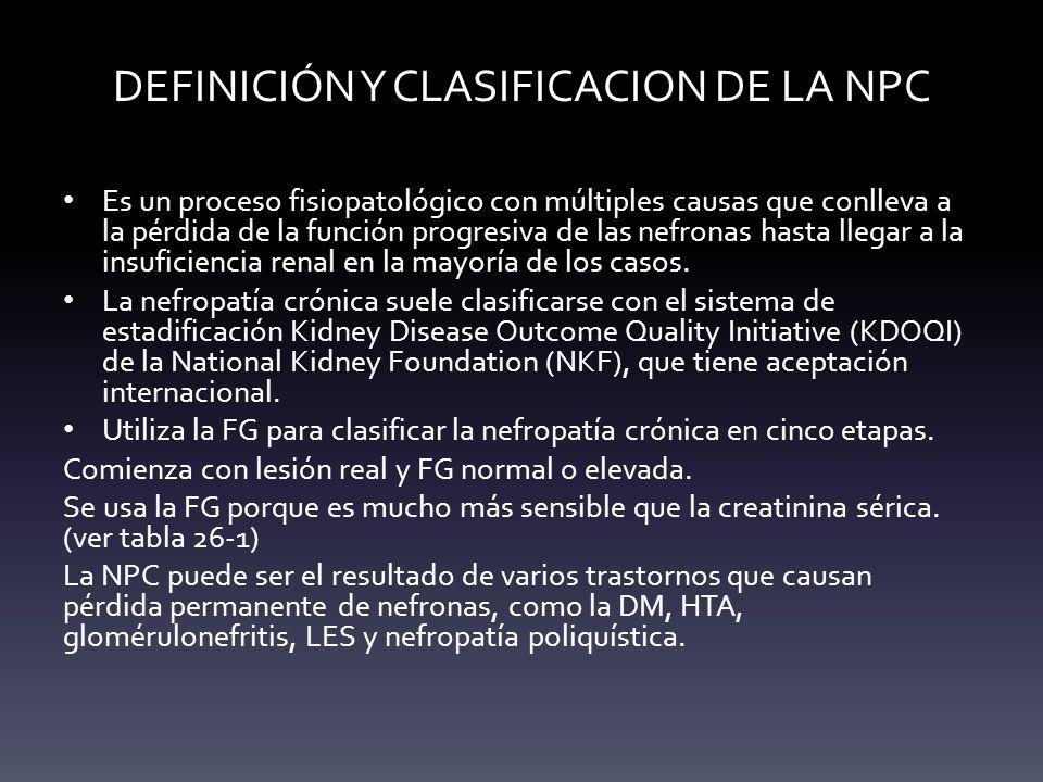 DEFINICIÓN Y CLASIFICACION DE LA NPC