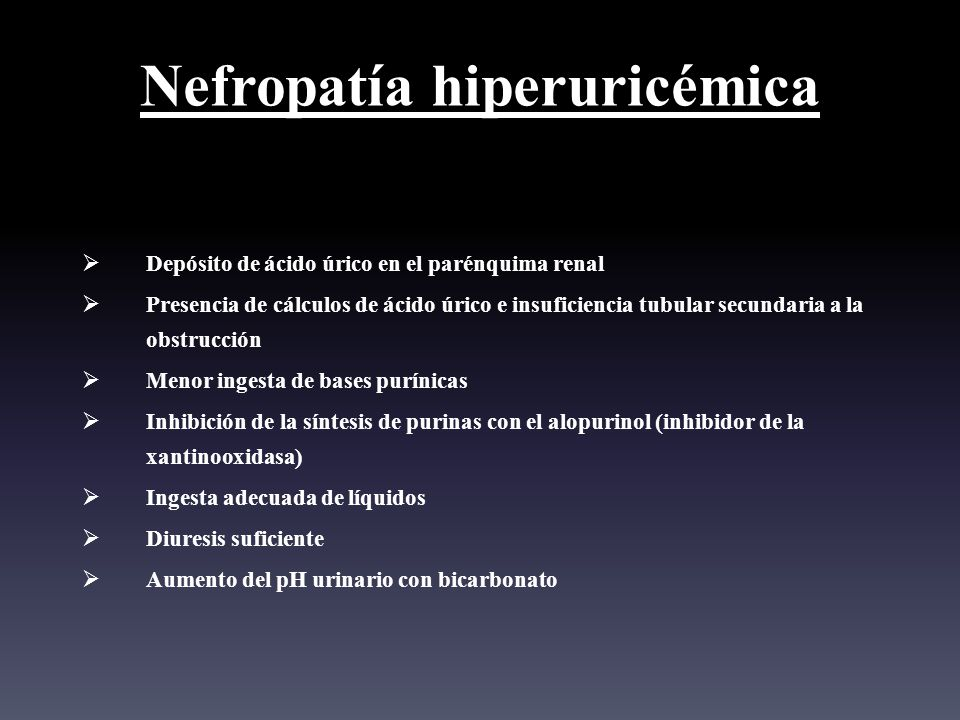 Nefropatía hiperuricémica