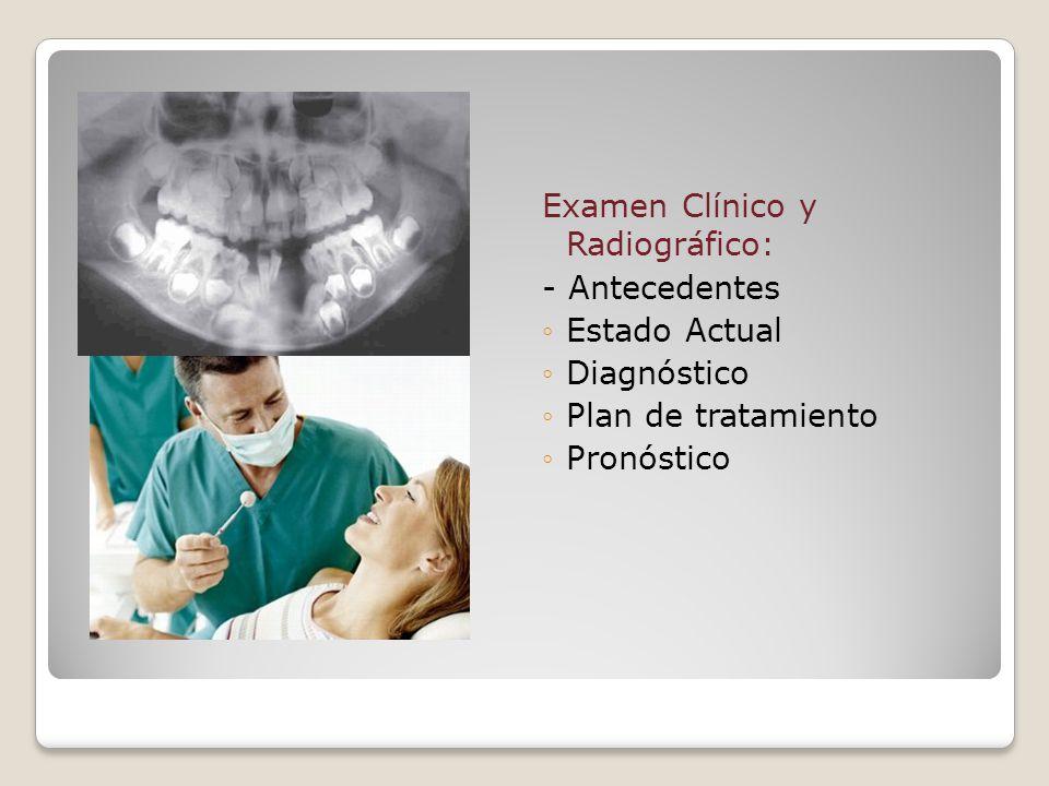 Examen Clínico y Radiográfico:
