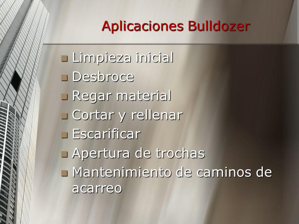 Aplicaciones Bulldozer