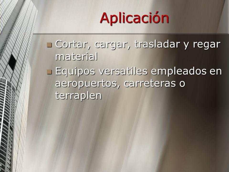 Aplicación Cortar, cargar, trasladar y regar material