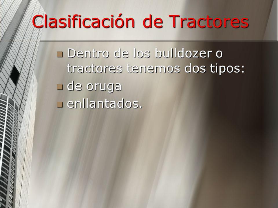 Clasificación de Tractores