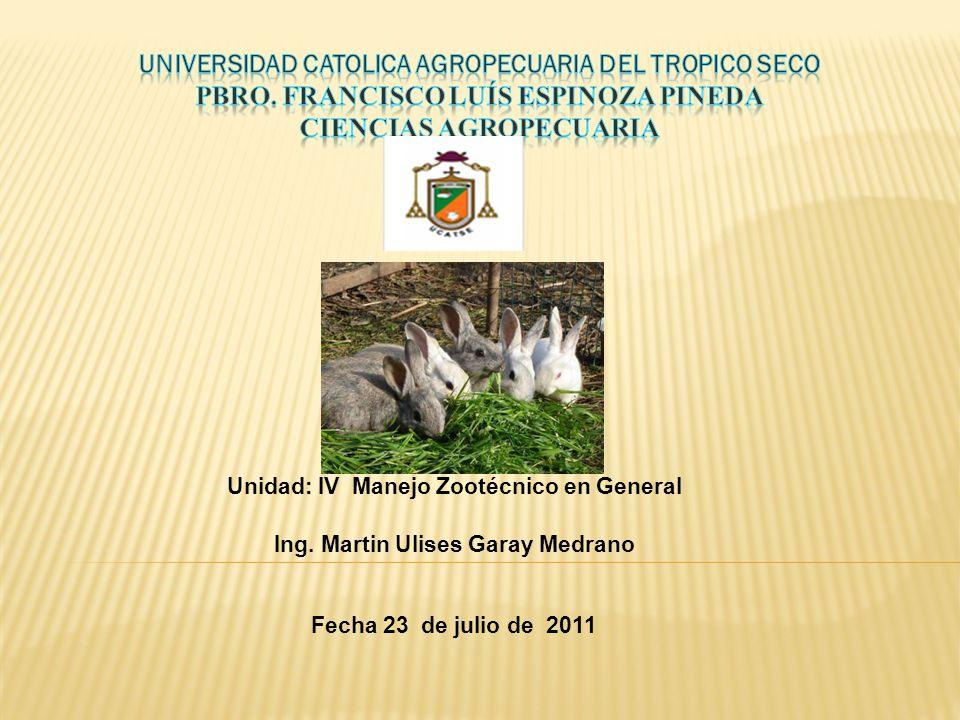 UNIVERSIDAD CATOLICA AGROPECUARIA DEL TROPICO SECO